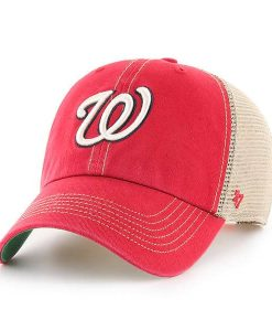 Washington Nationals 47 Brand Trawler Red Clean Up Adjustable Hat