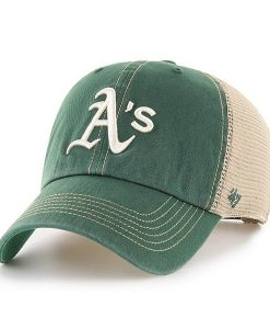 Oakland Athletics 47 Brand Trawler Dark Green Clean Up Adjustable Hat