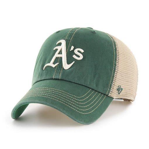 Oakland Athletics 47 Brand Trawler Dark Green Clean Up Adjustable Hat