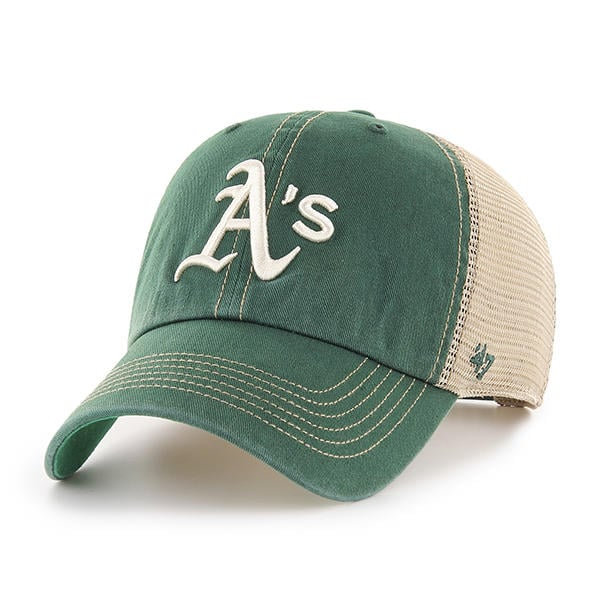 dbc12fae4f7 Oakland A s 47 Brand Trawler Dark Green Clean Up Adjustable Hat ...