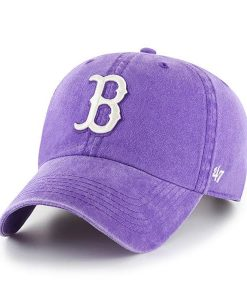 Boston Red Sox 47 Brand Bright Purple Clean Up Adjustable Hat