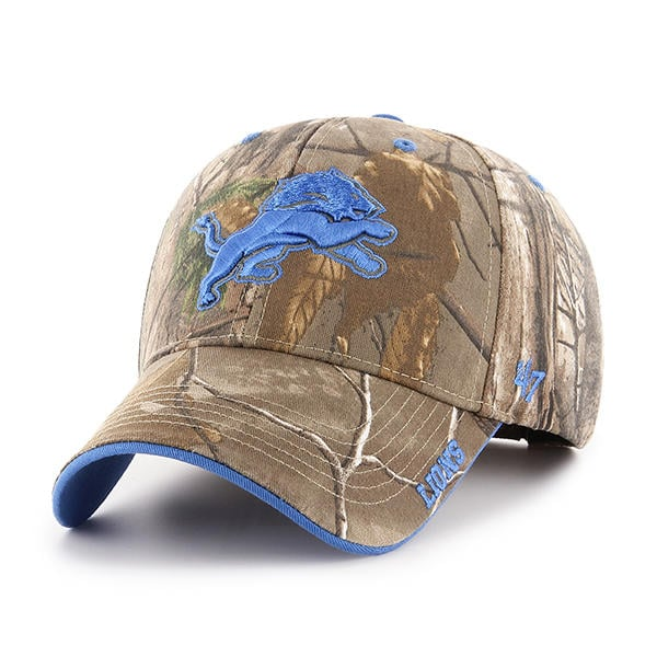 Detroit Lions 47 Brand MVP Realtree Frost Adjustable Hat