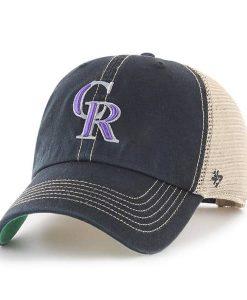 Colorado Rockies 47 Brand Trawler Black Clean Up Adjustable Hat
