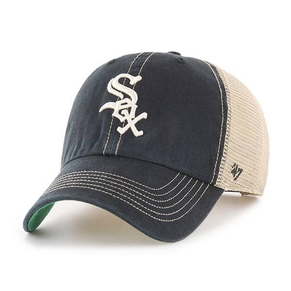 pretty nice 414aa 5ce2c ... coupon code for chicago white sox 47 brand trawler black clean up  adjustable hat 0ca28 6a62b ...