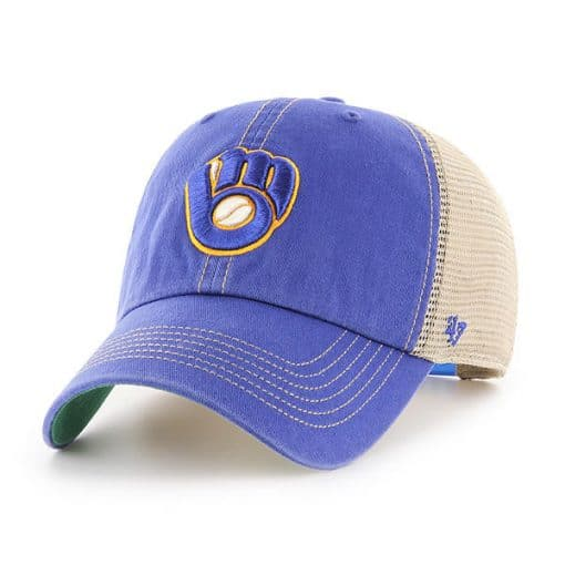 Milwaukee Brewers 47 Brand Trawler Royal Clean Up Adjustable Hat