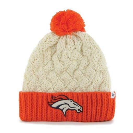 Denver Broncos Women's 47 Brand Matterhorn Natural Knit Hat