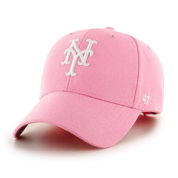 New York Mets Women s 47 Brand MVP Pink Rose Adjustable Hat ... ea022debb
