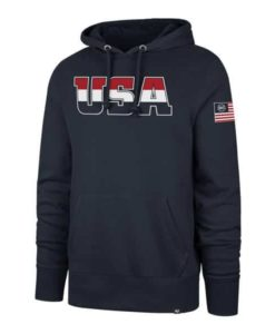 USA Flag 47 Brand Men's Navy Pullover Hoodie