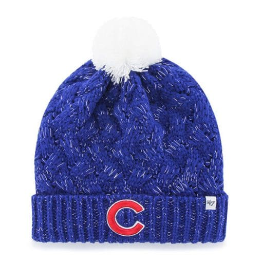 Chicago Cubs Women's 47 Brand C Blue Fiona Cuff Knit Hat