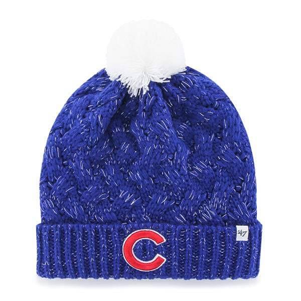 Chicago Cubs Women s 47 Brand C Blue Fiona Cuff Knit Hat - Detroit ... 98e16364355