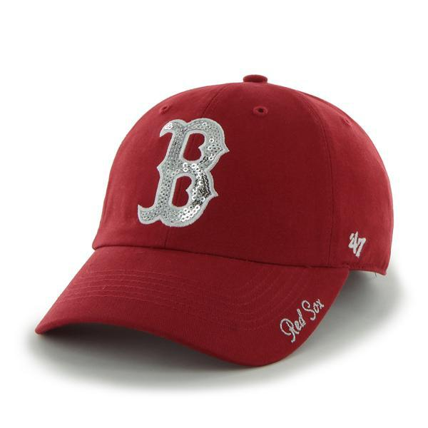Boston Red Sox Women's 47 Brand Sparkle Red Adjustable Hat