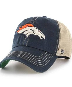 Denver Broncos 47 Brand Trawler Navy Clean Up Adjustable Hat