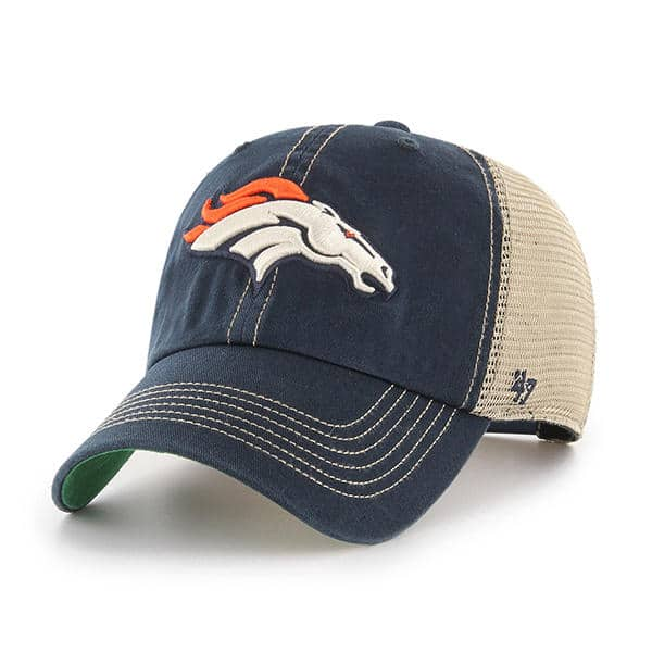 Denver Broncos 47 Brand Trawler Navy Clean Up Adjustable Hat
