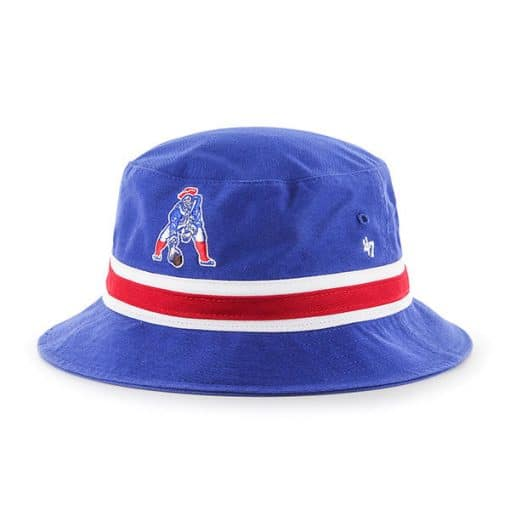 New England Patriots 47 Brand Classic Striped Blue Bucket Hat