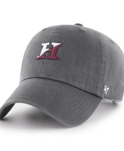 Harvard Crimson 47 Brand Abate Clean Up Charcoal Adjustable Hat