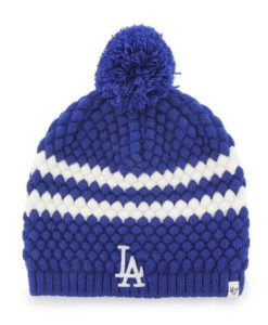 Los Angeles Dodgers Women s 47 Brand Blue Kendall Beanie Knit Hat 797bd4a0dbca