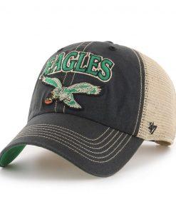 Philadelphia Eagles 47 Brand Tuscaloosa Classic Vintage Black Clean Up Hat