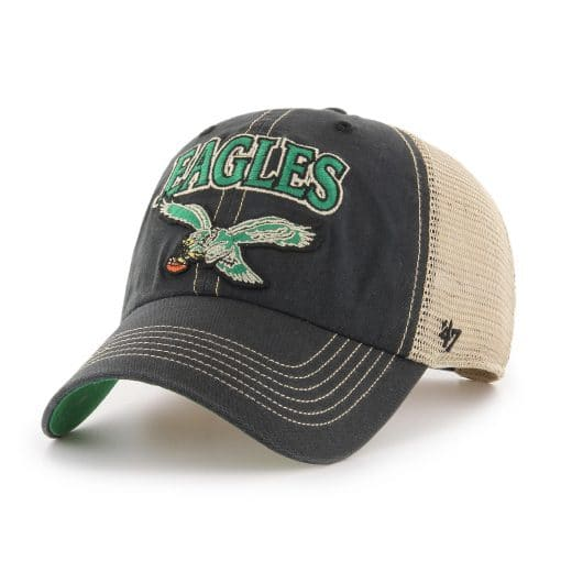 Philadelphia Eagles 47 Brand Tuscaloosa Classic Vintage Black Clean Up Hat