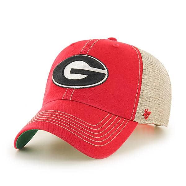 Georgia Bulldogs 47 Brand Trawler Red Clean Up Adjustable Hat