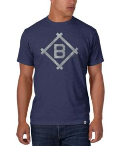 Brooklyn Dodgers Men's 47 Brand Blue Scrum T-Shirt Tee
