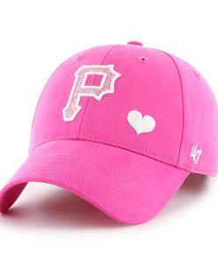 82a8f0c156c Pittsburgh Pirates 47 Brand Bright Pink Girls KIDS Adjustable Hat