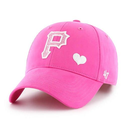 Pittsburgh Pirates 47 Brand Bright Pink Girls KIDS Adjustable Hat