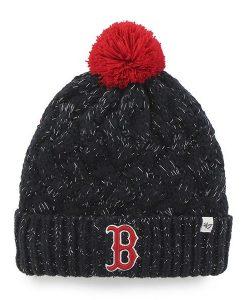 Boston Red Sox Women's 47 Brand Navy Fiona Cuff Knit Hat