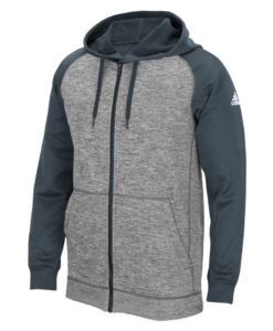Men's Adidas Gray Heathered Onix Tech Fleece Full Zip Hoodie