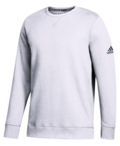 Men's Adidas White Climawarm Fleece Crew Pullover