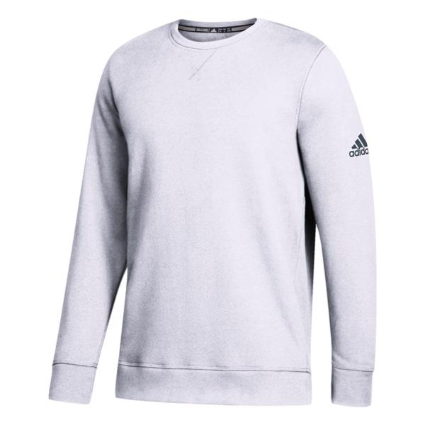 Men's Adidas White Climawarm Fleece Crew Pullover