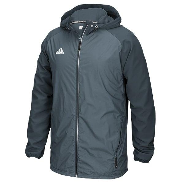 Men's Adidas Gray Onix Full Zip Hooded Jacket