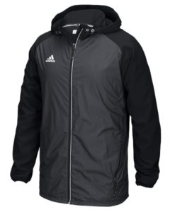 Men's Adidas Black Varsity Full Zip Hooded Jacket