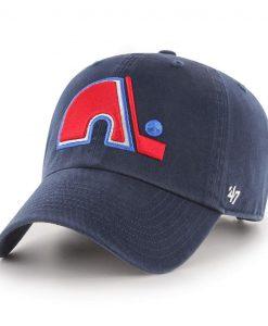 Quebec Nordiques 47 Brand Vintage Clean Up Navy Adjustable Hat