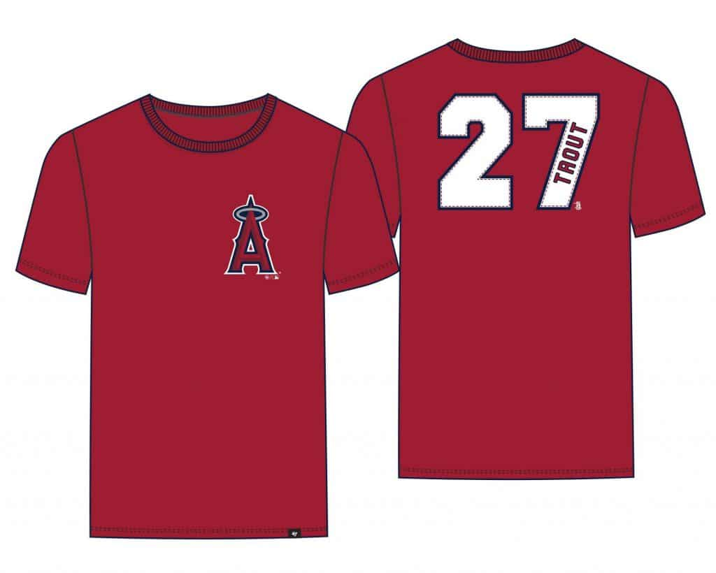 Mike Trout Los Angeles Angels 47 Brand Red Player Tee T-Shirt