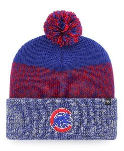 Chicago Cubs 47 Brand Blue Red Static Cuff Knit Hat
