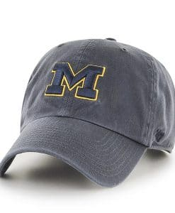 Michigan Wolverines 47 Brand Charcoal Clean Up Adjustable Hat