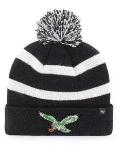 Philadelphia Eagles 47 Brand Classic Black Breakaway Cuff Knit Hat