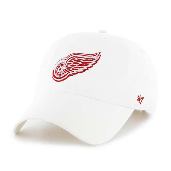 best sneakers 74209 a4670 Detroit Red Wings 47 Brand White Clean Up Adjustable Hat