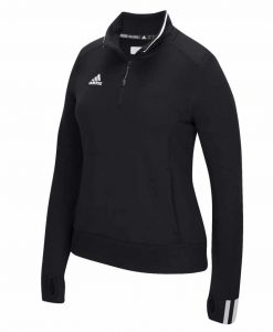 Women's Adidas Black Climalite 1/4 Zip Pullover