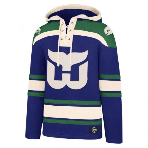 Hartford Whalers Men's 47 Brand Royal Pullover Jersey Hoodie