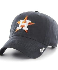 Houston Astros Women's 47 Brand Sparkle Navy Clean Up Adjustable Hat