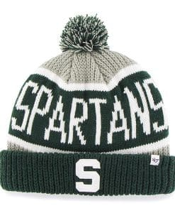 Michigan State Spartans 47 Brand Calgary Gray Cuff Knit Hat
