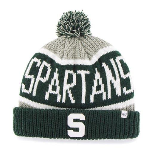 Michigan State Spartans 47 Brand Calgary Gray Cuff Knit Hat