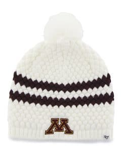 Minnesota Golden Gophers Women's 47 Brand White Kendall Beanie Hat