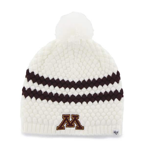 dafb863d Minnesota Golden Gophers Women's 47 Brand White Kendall Beanie Hat ...