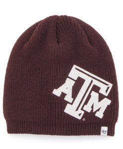 Texas A&M Aggies Women's 47 Brand Sparkle Dark Maroon Beanie Hat