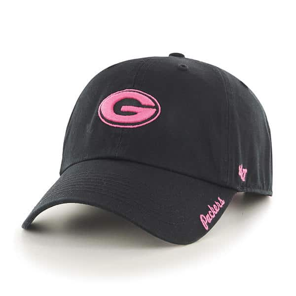 save off f548e 5c66f Green Bay Packers Women s 47 Brand Pink Black Clean Up Hat