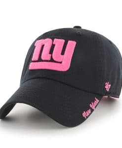 New York Giants Women's 47 Brand Pink Black Clean Up Hat