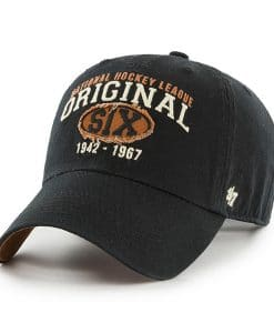 Original Six 47 Brand Henrick Black Clean Up Adjustable Hat