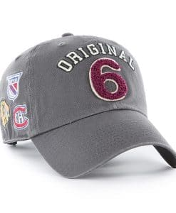 Original Six 47 Brand Gray Clean Up Adjustable Hat
